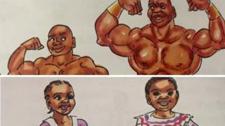 Textbook showing gender stereotypes in Tanzania