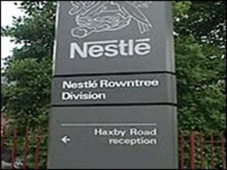 Nestle factory, York
