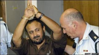 Marwan Barghouti brought into court in Tel Aviv by Israeli police