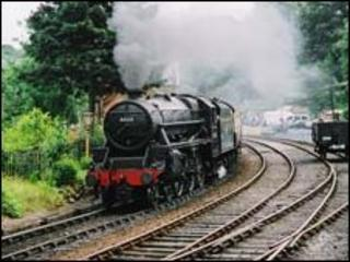 Steam engine at the Severn Valley Railway - generic image
