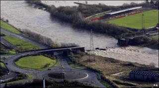 Destroyed Northside Bridge