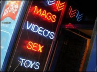 A sex shop in Soho