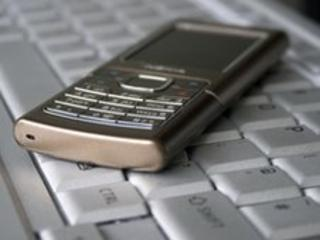 Mobile on keyboard, BBC
