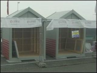 The new beach huts for Hove Lagoon