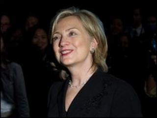Hillary Clinton at the World Expo 2010