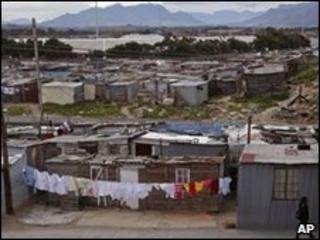 The township of Khayelitsha near Cape Town, South Africa
