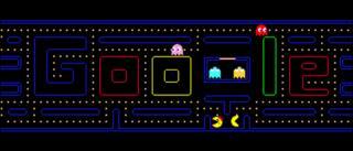 Pacman game, Google