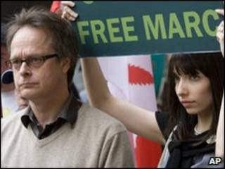 Marc Emery with a supporter