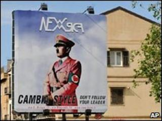 An advert showing Adolf Hitler in Palermo