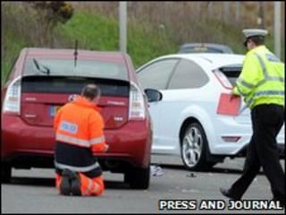 Jogger crash scene