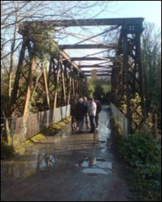 A bridge has crossed the River Faughan at this point since at least 1830