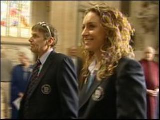 Amy Williams at Bath Abbey