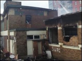 The fire in Sheffield