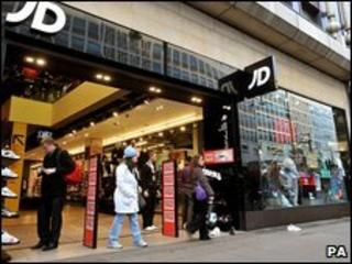 A JD Sports shop front