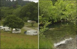 Campsite and river stills