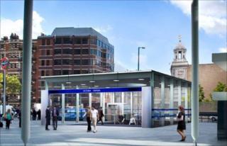 Revamped Victoria Station entrance