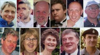 Eleven of the 12 victims of the Cumbria shootings. No photo has been issued of Kevin Commons