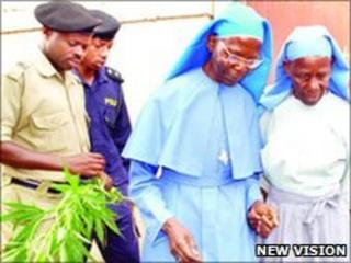 Nuns being taken in for questioning