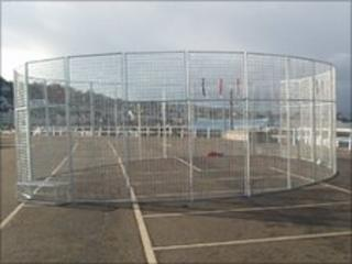 Football cage similar to the one being launched in Llanelli