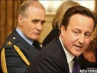 Sir Jock Stirrup and David Cameron