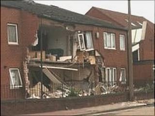The damaged flats