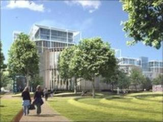 Artist impression of Lord Rogers' design for the former Chelsea barracks site