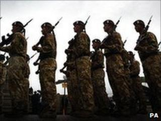 Generic image of soldiers on parade