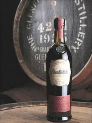 The bottle of Glenfiddich