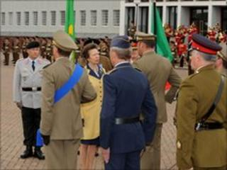 The Princess Royal meets ARRC troops
