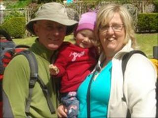 Mark and Lisa Collins with daughter Magdalen