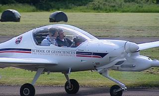 BBC reporter David Miller on the Edinburgh University aircraft