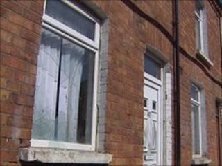 A number of houses in the Donegall Road area were attacked