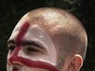 England fan with painted face