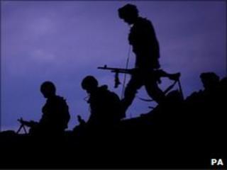 Royal Marines on patrol in Afghanistan in 2009