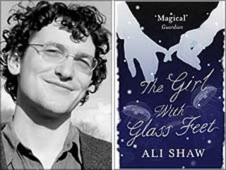 Ali Shaw and the cover of his prize-winning novel