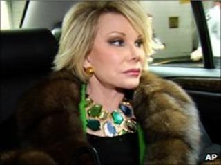 Joan Rivers in her documentary A Piece Of Work
