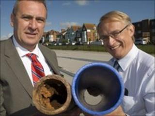 Graham Webb and Ken Lukar of Southern Water