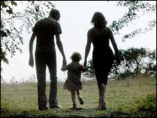 Silhouette of a family