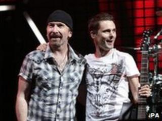 The Edge and Matt Bellamy