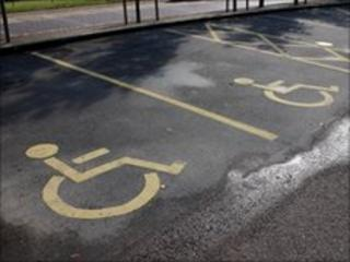 Disabled parking bays
