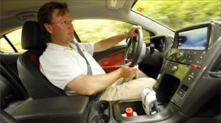 Jorn Madslien, BBC News, drives the Ampera