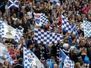 Ross County fans at Hampden