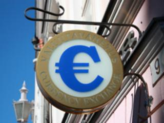 Estonian Bureau de change sign