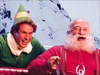 Will Ferrell with Edward Asner (r) in Elf