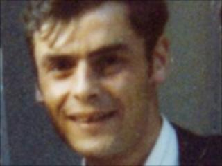 Peter Tobin, pictured as a young man