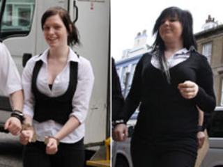 Danielle Sinclair (left) and Paige Sharp