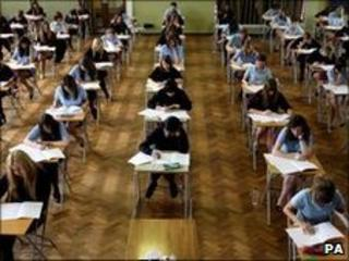 Students sitting Sats tests