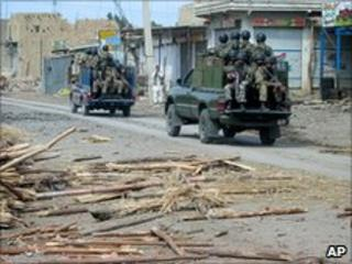 Troops in north-western Pakistan