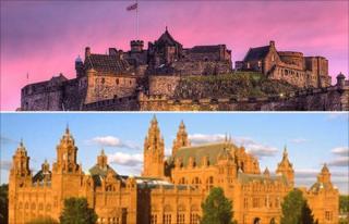 Edinburgh Castle and Kelvingrove Museum