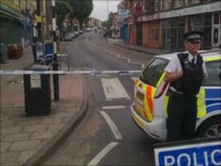 Police at scene in Easton